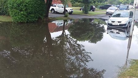 Newgate Close in Jersey Farm was very badly affected by the flooding