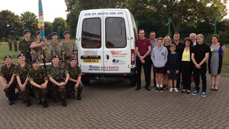 St Neots Air Cadets Squadron welcome new mini bus thanks to donations from parents and the local com
