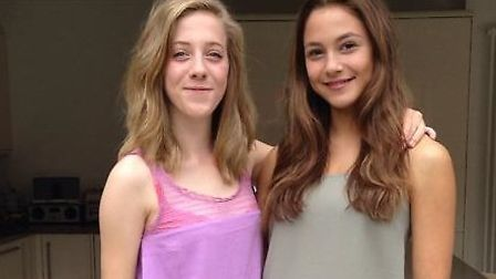 St Albans teenagers Eleana Hackwood (left) and Esme Mallett are raising money and awareness for Youn