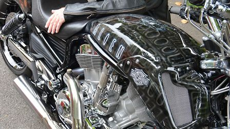 NCC cambs show winner Malcolm Watson, with his Harley davidson V rod muscel, Alien, from Huntingdon,