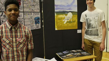 All our own work: Romario Thomas and Matthew Richer at the Meridian show.