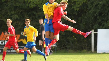 Jack Cartwright and Lee Harman compete in the air