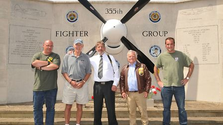 Organisers of the fly by Pixelsnipers Chris Balmer, memorial founder David Crow, Alan Addison from t
