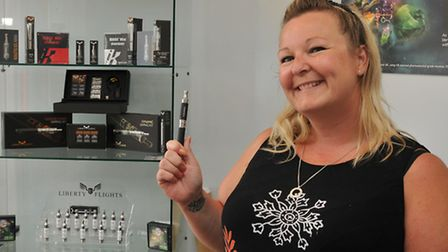 Tracie Adams has opened a vapour cigarette shop called Escape The Addiction
