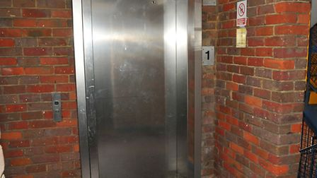 The lift in Drovers Way car park