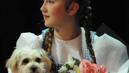 Greneway Middle School production of the Wizard of Oz, July 2015. Milly Jordan as Dorothy