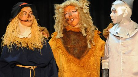 Greneway Middle School production of the Wizard of Oz, July 2015. Scarecrow Georgie Lane, James Pric