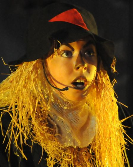 Greneway Middle School production of the Wizard of Oz, July 2015. Georgie Lane as the Scarecrow