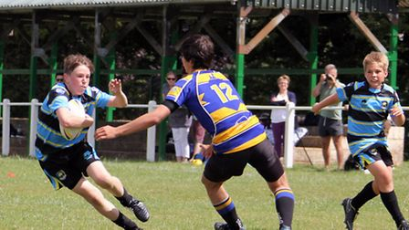 Action from St Albans Centurions U13s' play-off semi-final against Rutlish Raiders. Picture: Darryl