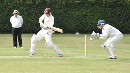 Charlie Lewis hit 91 for Waresley in their Tucker Gardner League Division One victory over Nassingto