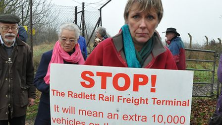 Cathy Bolshaw, rail freight demonstrator and founder of STRiFE