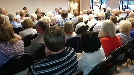 Rail freight meeting at Greenwood Park community centre