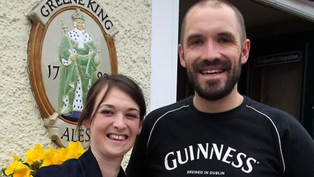 Alison and Matthew Brazier, owners of The Boars Head