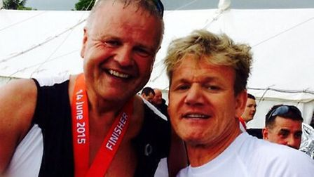 Chris Leigh completed the half IRON MAN UK alongside the likes of celeb chef Gordon Ramsey