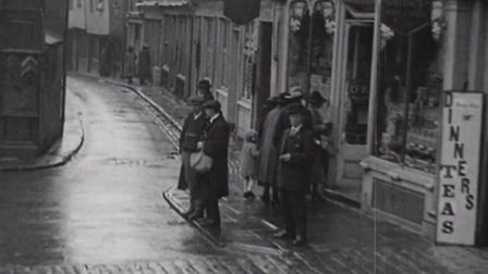 BFI heading down French Row in 1920
