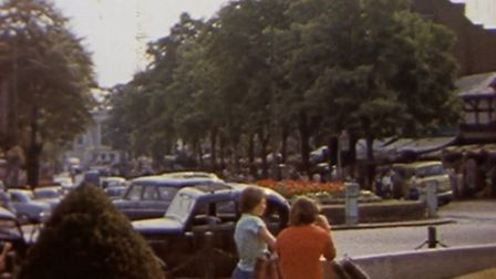 BFI clip of Catherine Street roundabout from 1954