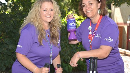 Nurses (l-r) Dee Stanford, and Carol Evans, from the Newton Centre, Huntingdon, who will climb Mount