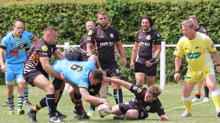 Action from St Albans Centurions Development Squad's win over Bedford Tigers A team. Picture: Darryl