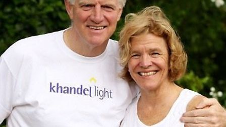 Dr Peter Gough and his wife Bridget are taking part in the run for Khandel light.
