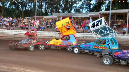 Guy Jolly (222) in the Supreme Trophy final at Mildenhall. Picture: MATT BULL/RACEPIXELS.CO.UK