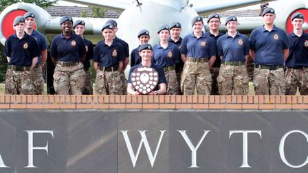 A team of Huntingdon Squadron Air Cadets won the coveted Field Day Trophy