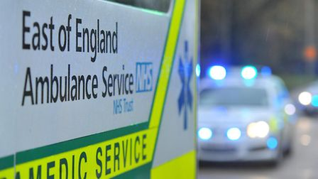 A man was treated at the scene for leg injuries at the scene and taken to Luton and Dunstable Hospit