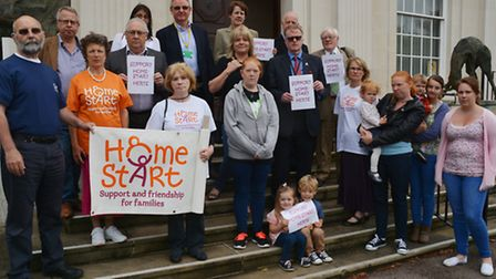 Home Start supporters outside County Hall