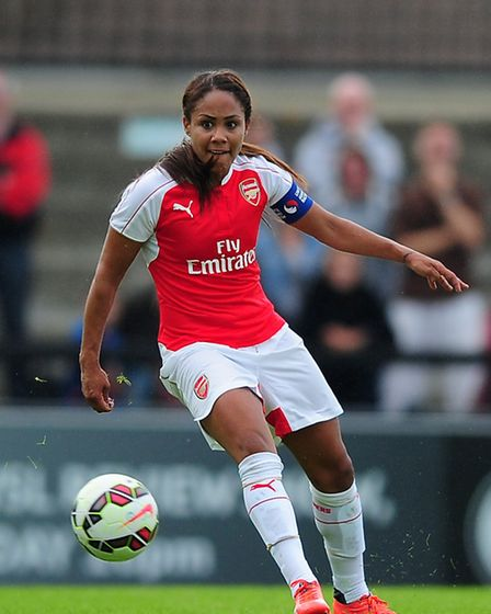 Alex Scott of Arsenal in action. Photo by Dan Mullan - The FA/The FA via Getty Images
