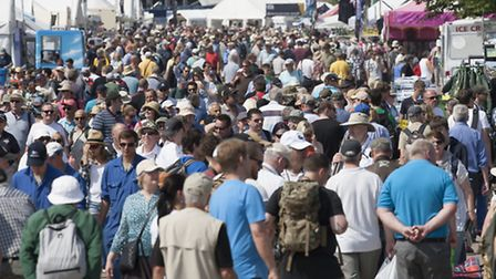 The crowd at Duxford IWM's Flying Legends Air Show. Picture: Gerry Weatherhead, www.creativeeye.me.u