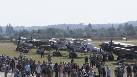Flying Legends show at IWM Duxford, July 2015