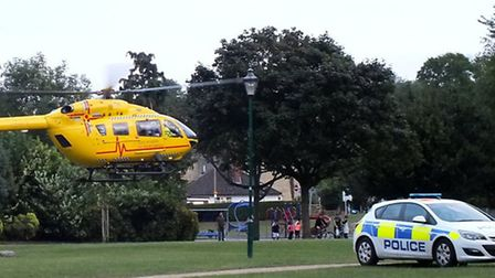 Dermot Byrne took this shot of the helicopter landing