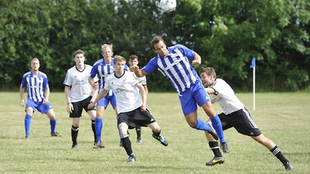 Action from Godmanchester Rovers' friendly against Peterborough Northern Star. Picture: HELEN DRAKE