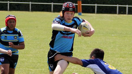 Action from St Albans Centurions U13's win over Southend Spartans.