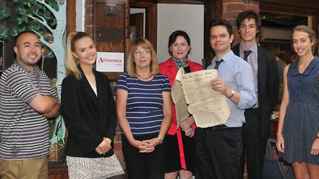 The Herts Advertiser team on the newspaper's 160th birthday: photographer Danny Loo, reporter Sophie