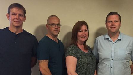 The committee of Godmanchester Town are, from the left, Chris Allan, Richard Cosbey, Tracy Cosbey, S