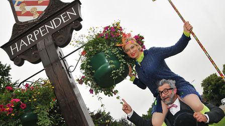 The Moscow State Circus clowns, the cleaner and professor Wacko who are visiting Harpenden