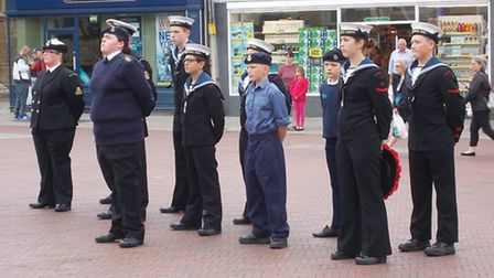 A Sea Sunday ceremony was held in Huntingdon's market square.