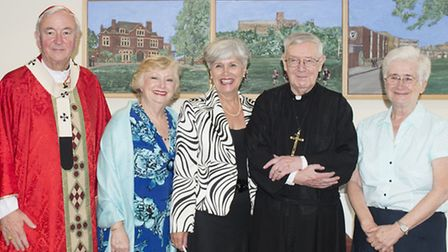 Cardinal Vincent Nichols at St Columba's College in St Albans