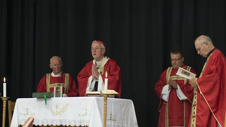 Cardinal Vincent Nichols celebrated mass at St Columba's College in St Albans