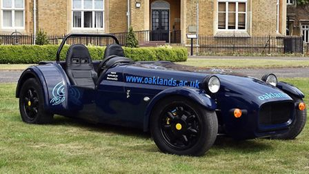 Students at Oaklands College in St Albans build their very own kit car
