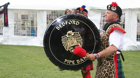 Batford pipe band were part of the big celebrations last year