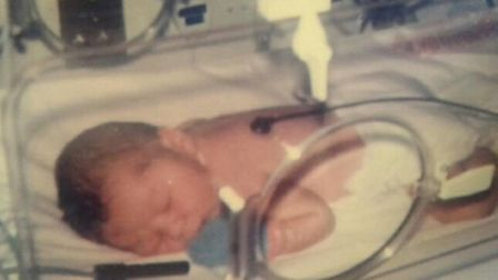 Ben Cornwell, who spent time in a special care baby unit as an infant.