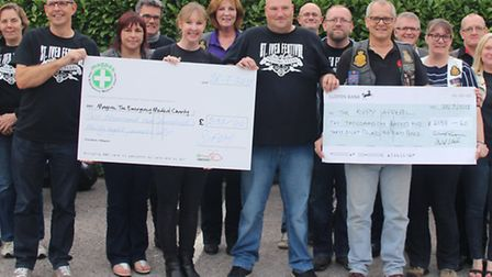 At a reception held at the Addison Arms in Glatton on Tuesday 28th July members of local motorcycle