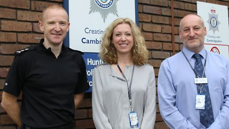 Inspector Paul Rogerson, Chief Inspector Laura Hunt and Detective Inspector Bryan Driver.