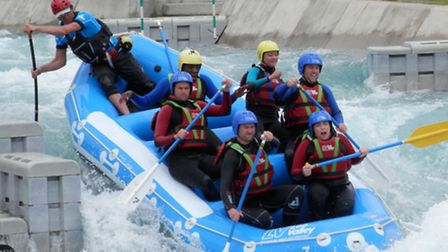 White water rafting at the Lee Valley White Water Centre