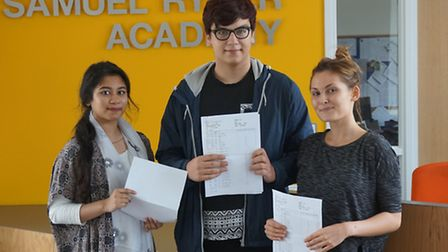 Students at Samuel Ryder Academy celebrated record breaking results