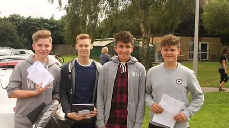 Marlborough Science Academy students getting their GCSE results