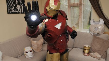 Sheldon Gilman in one of his Ironman suits