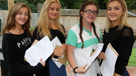 Lucy Catterall, Saffron Henry, Amelia Gumble and Charlotte Headington