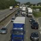 Congestion on the A14.